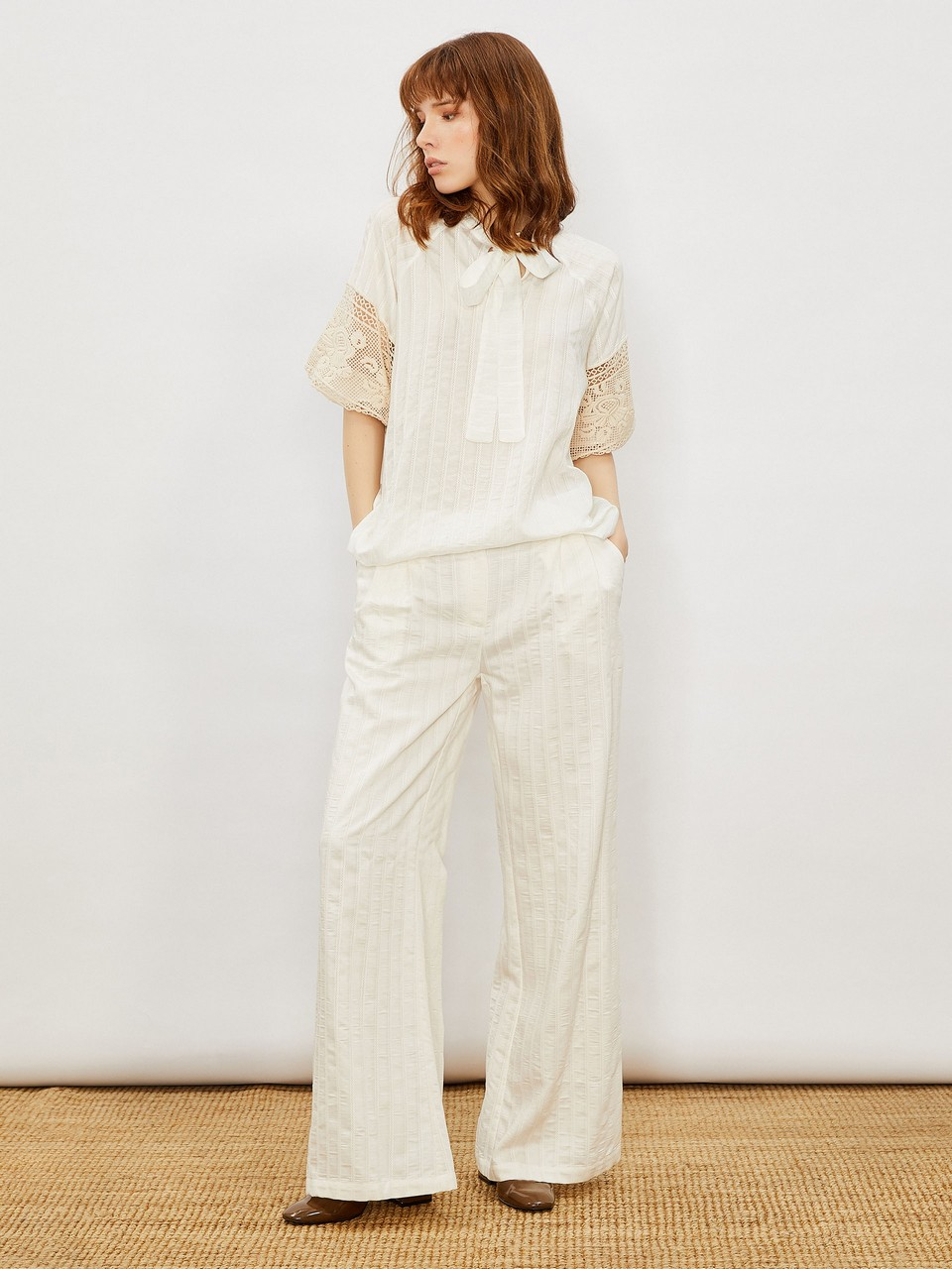 Scalloped Casual Trousers