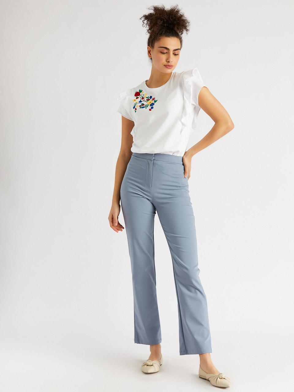 Classic Cut Cotton Trousers