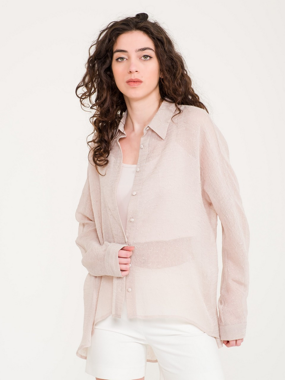 Loose Cut  Long Sleeve Shirt