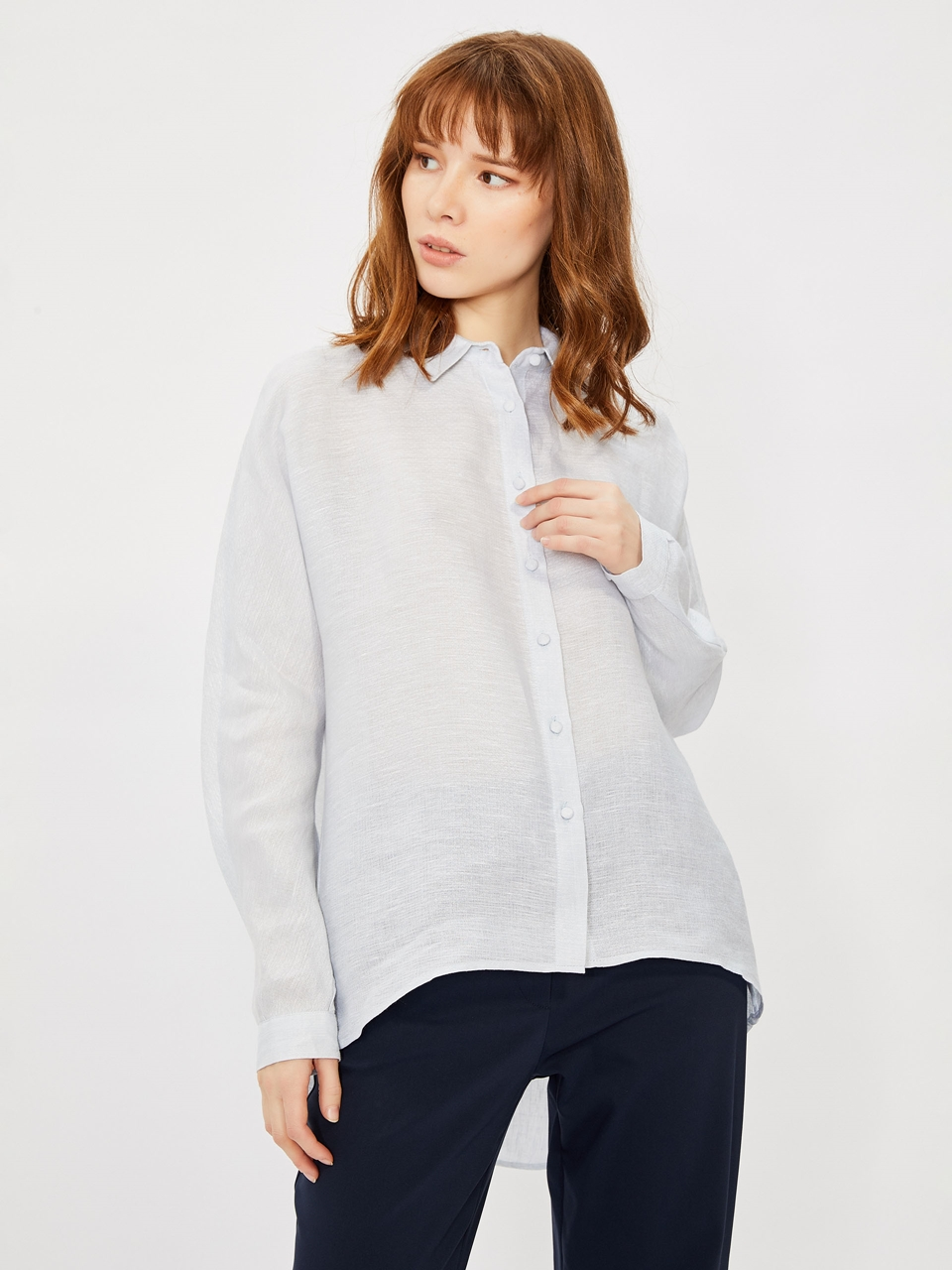 Loose Cut Linen Shirt