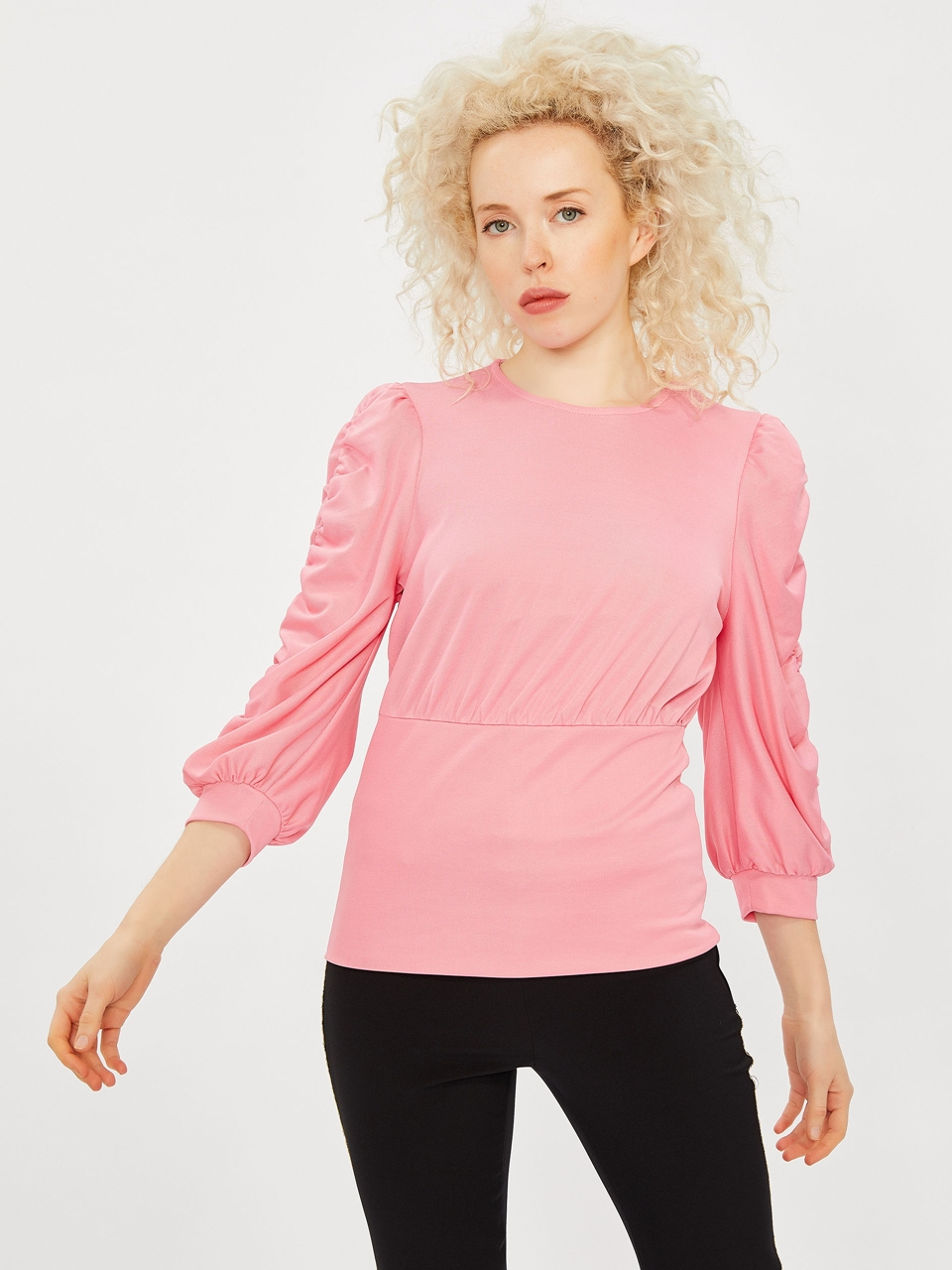 Sleeve Shirt Detailed Blouse