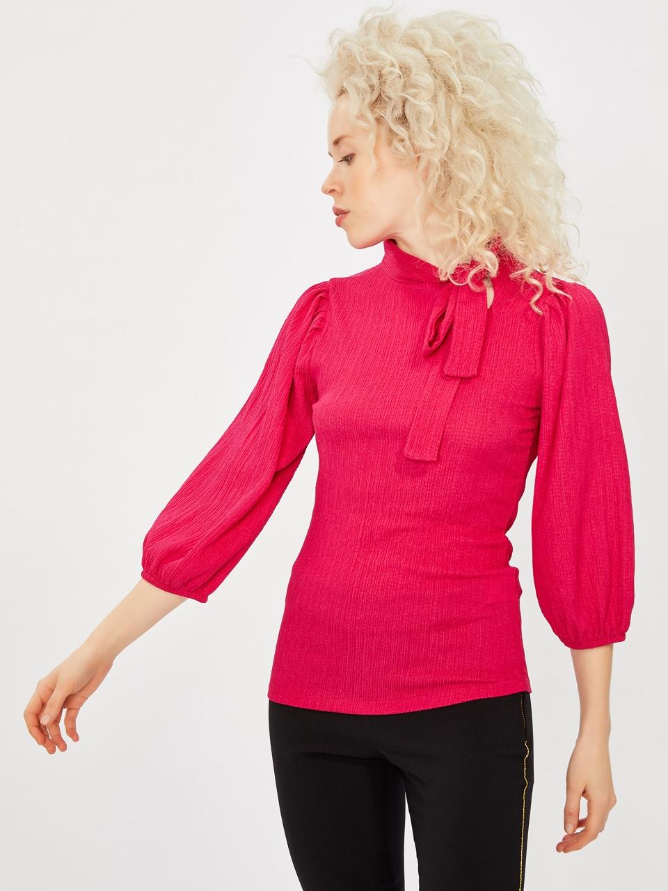 Collar Binding Detailed Blouse