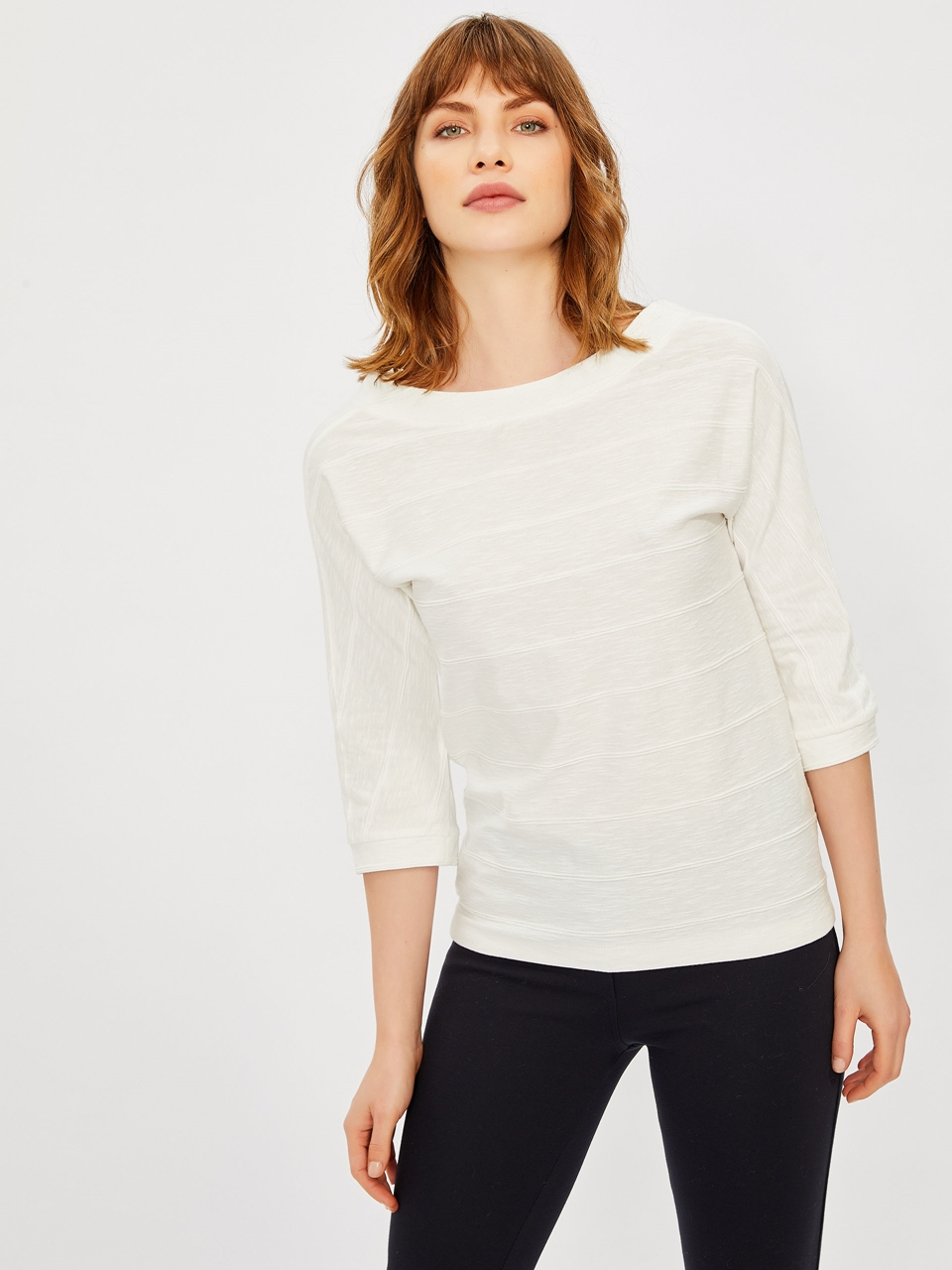 Three Quarter Sleeve Arm Blouse