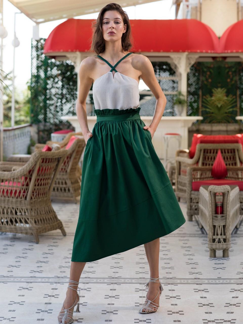 Ruffled Skirt at Waist
