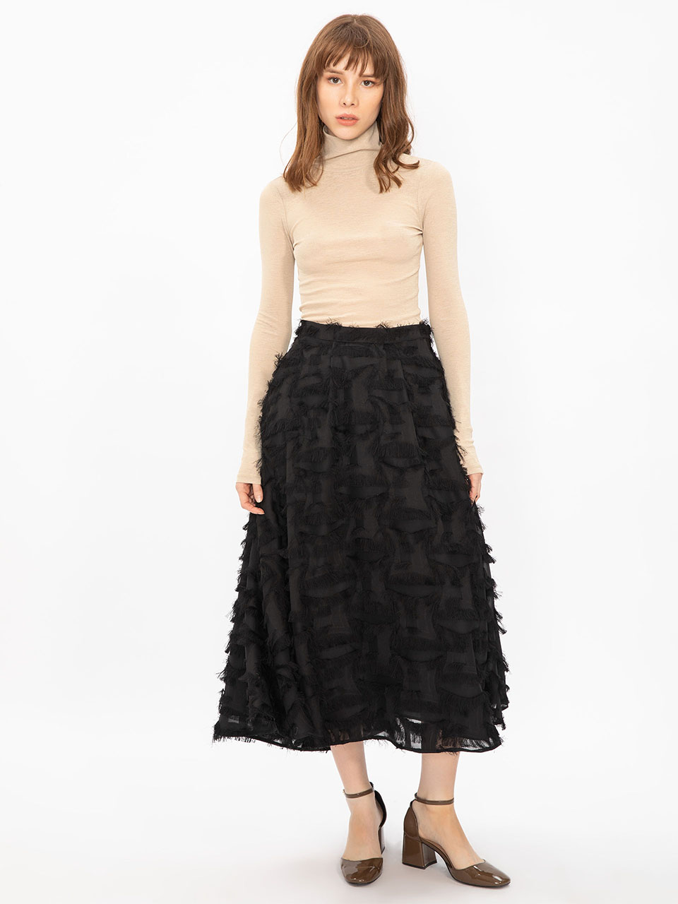 Tassel Detailed Bell Skirt