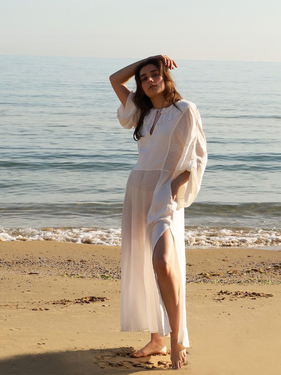 Scalloped Long Dress