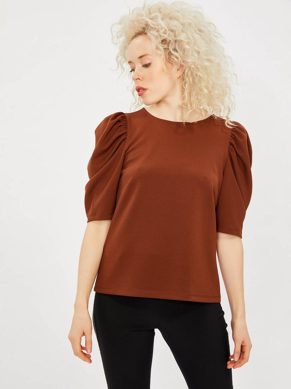 Shortcut Sleeve Shirt Blouse