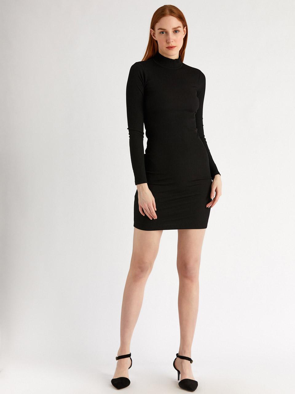 Turtleneck Mini Dress