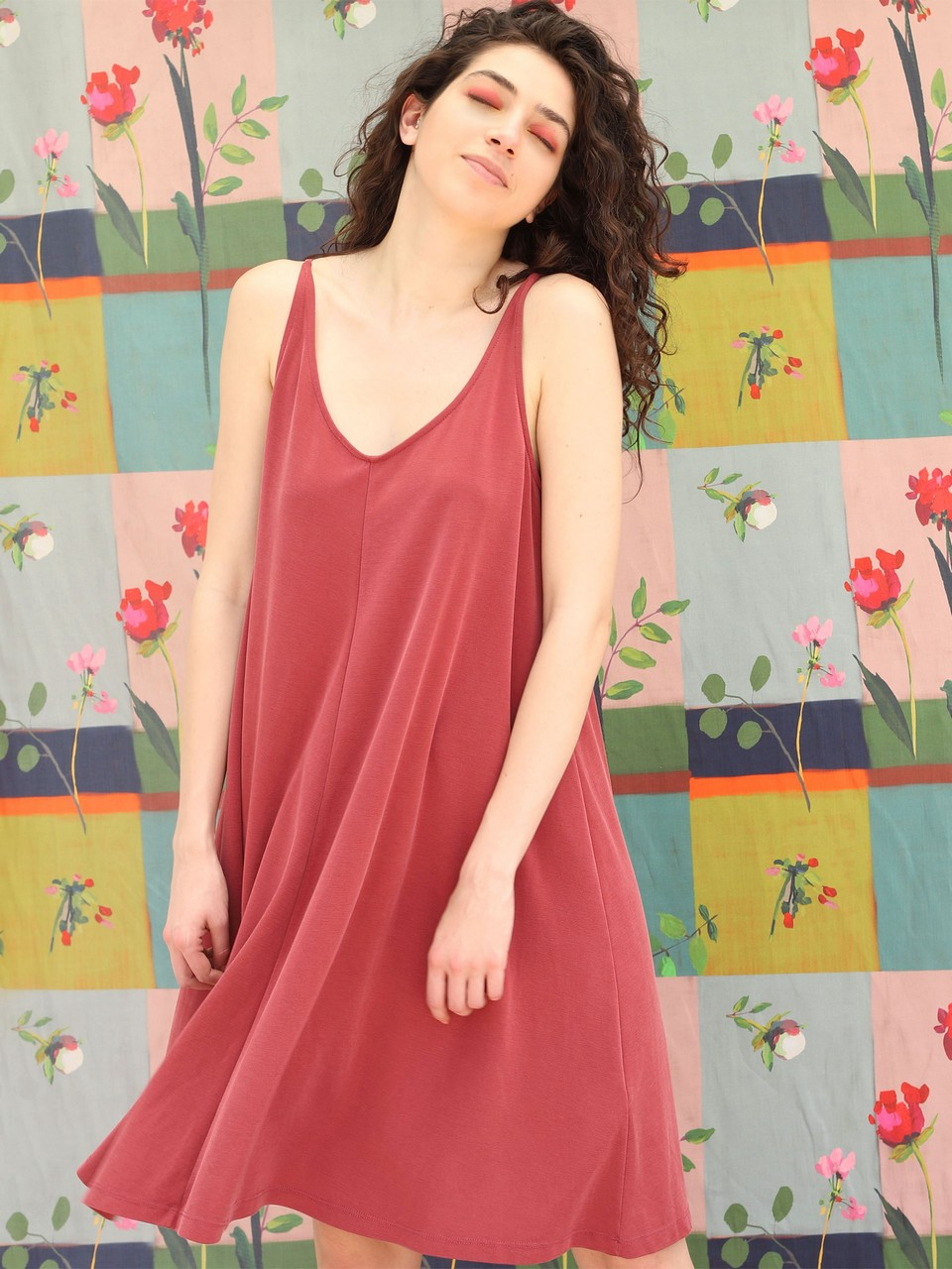 Loose Cut Dress With Strap