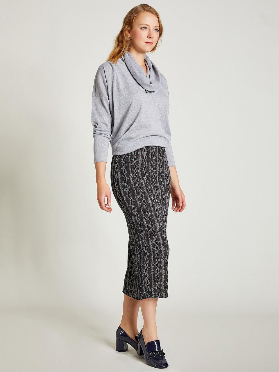 Patterned Midi Size Skirt
