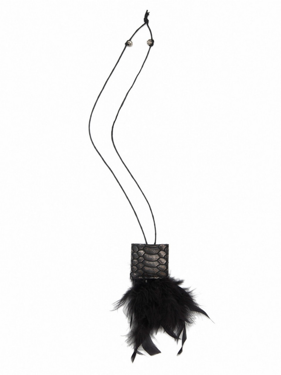 Feathered Leather Necklace