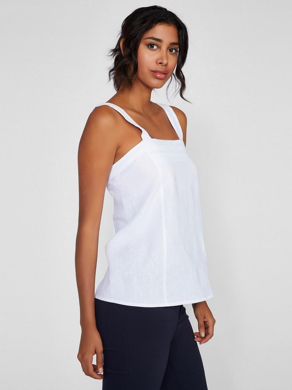 Askılı Piliseli Bluz
