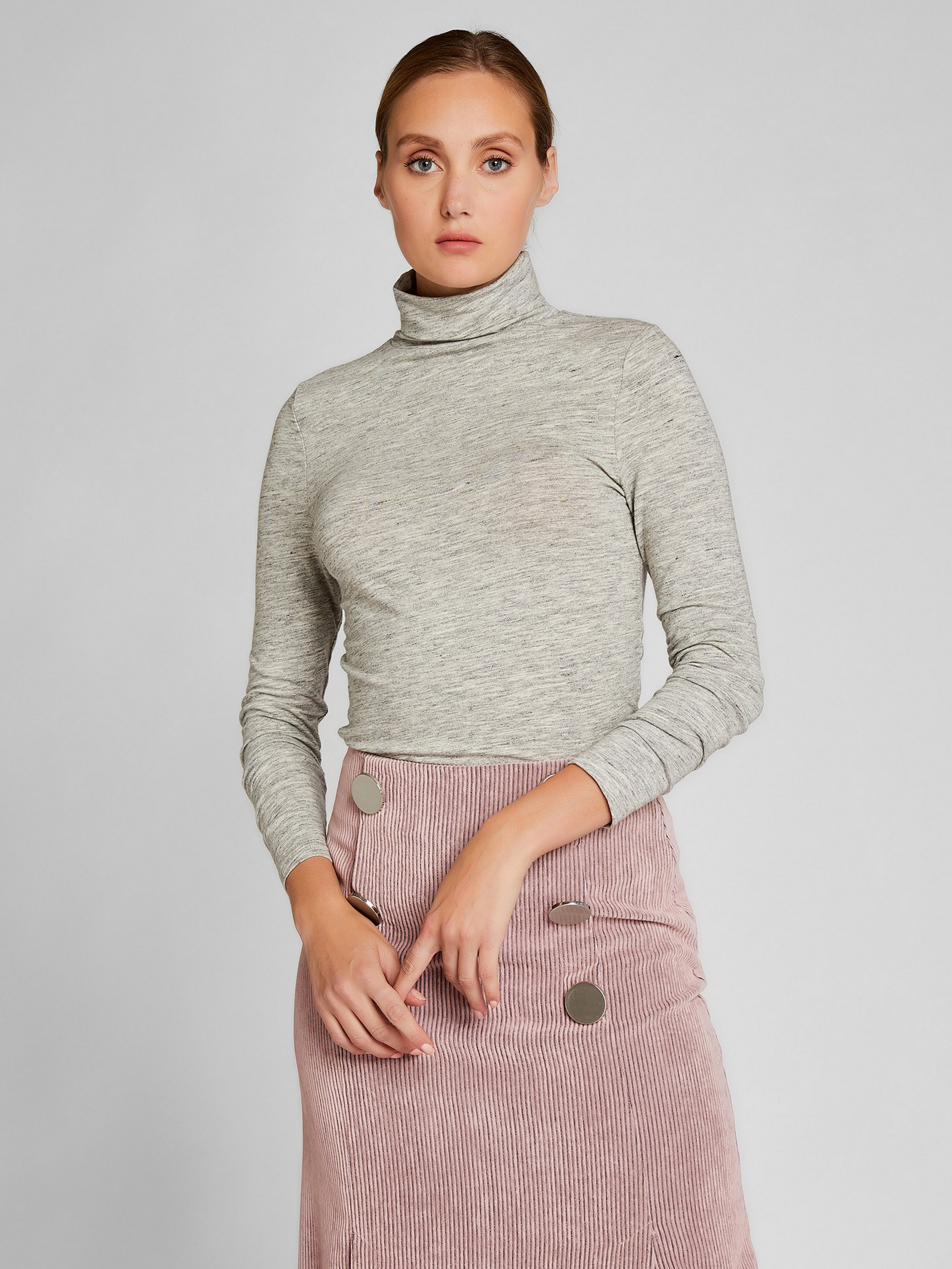 Turtleneck Woolen Blouse