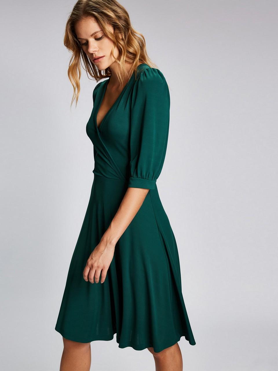 Derin V Yaka Robadan Elbise