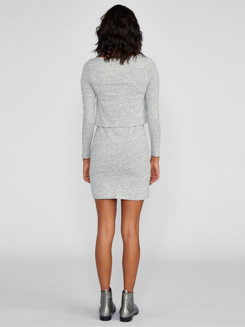 Kayık Yaka Uzun Kollu Elbise