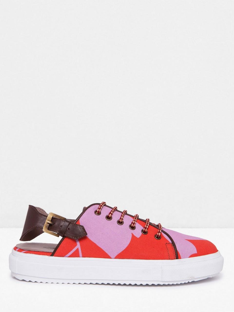 Deri Detaylı Sneaker Ayakkabı