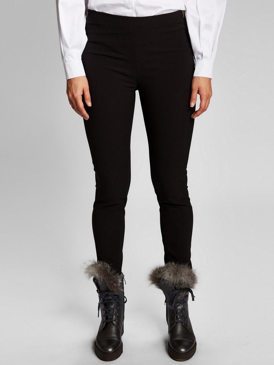 Yanlardan Fermuarlı Slim Fit Pantolon