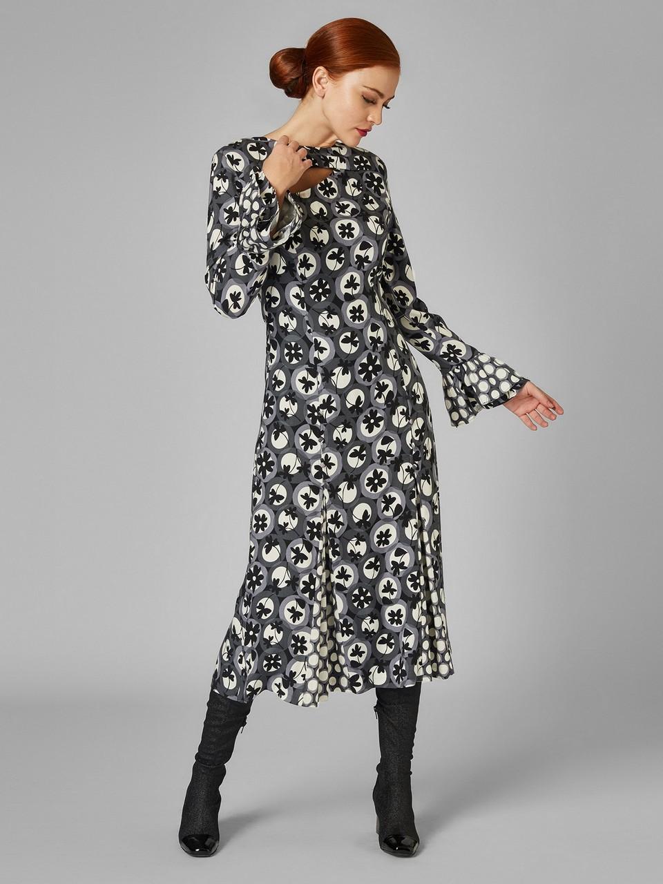 Önü Dekolteli İspanyol Kol Midi Elbise