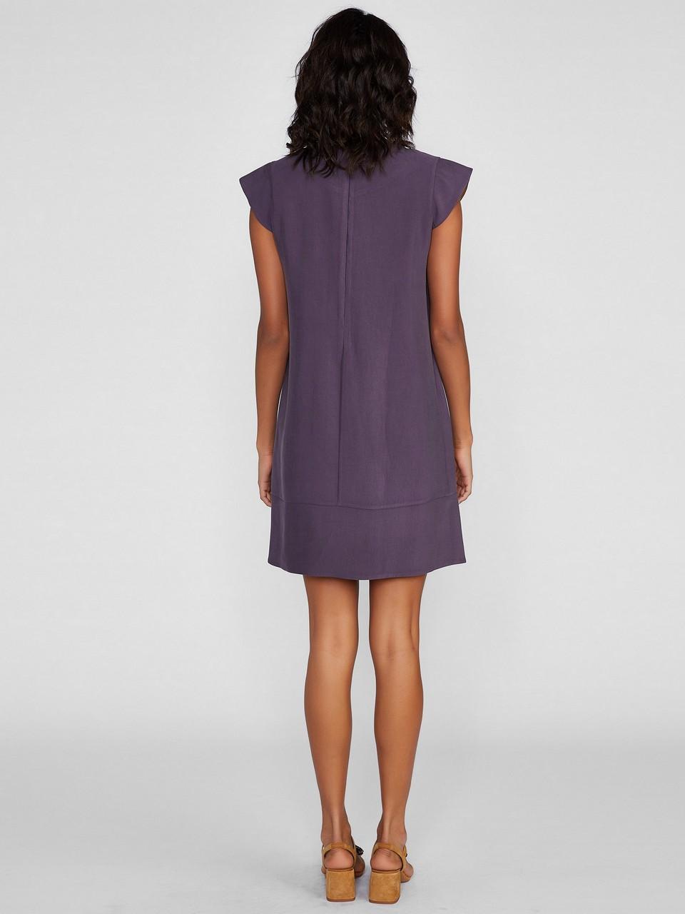 Sıfır Yaka Ay Kol Rahat Kesim Elbise