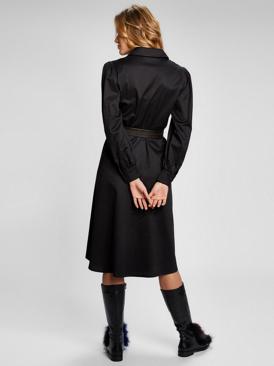 Gömlek Yaka %100 Pamuk Elbise