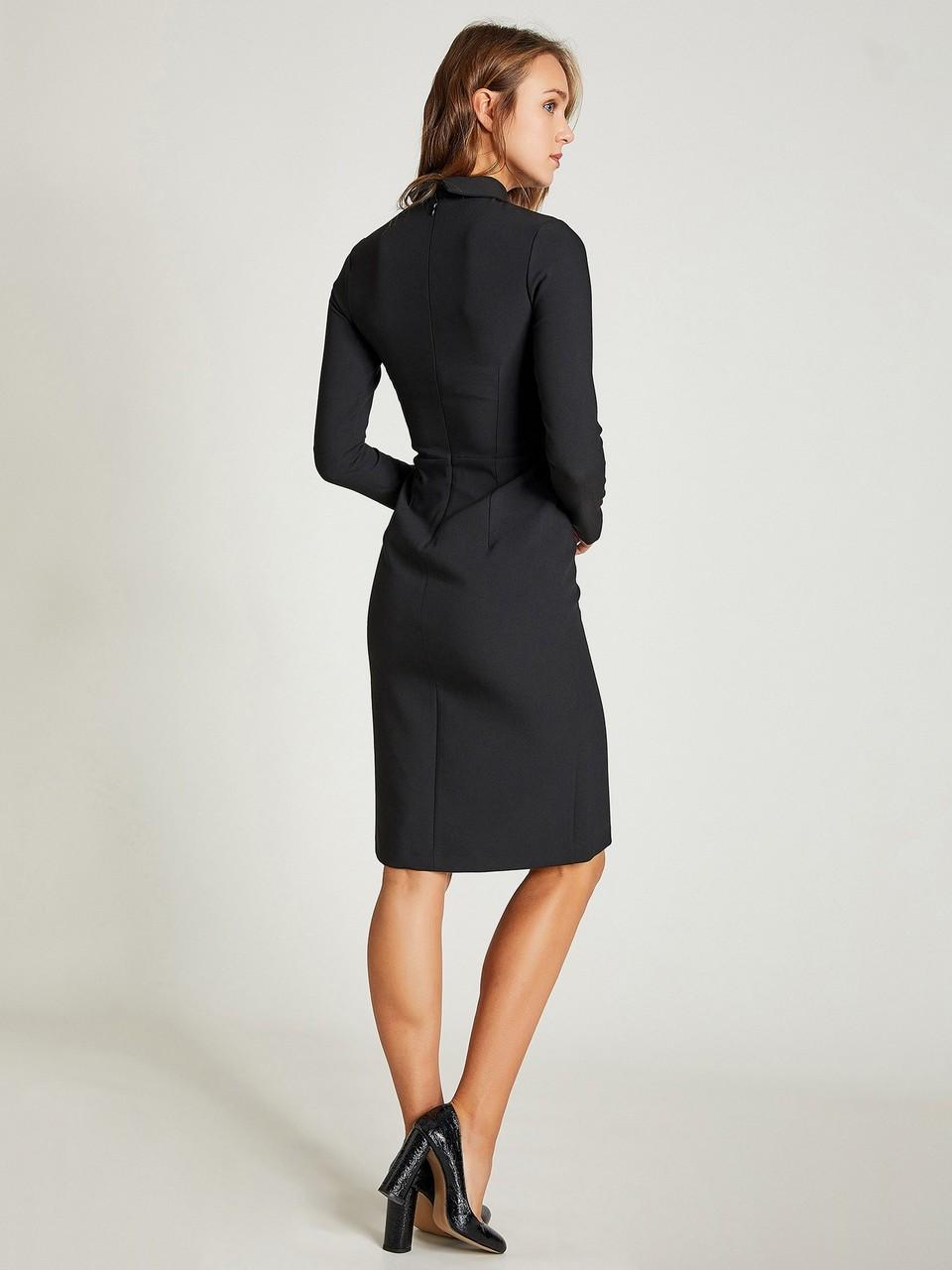 Gömlek Yaka Uzun Kollu Midi Elbise