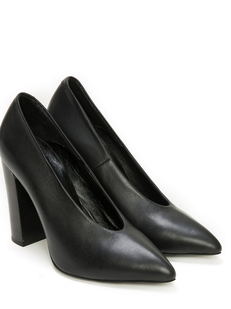 Deri Topuklu Ayakkabı