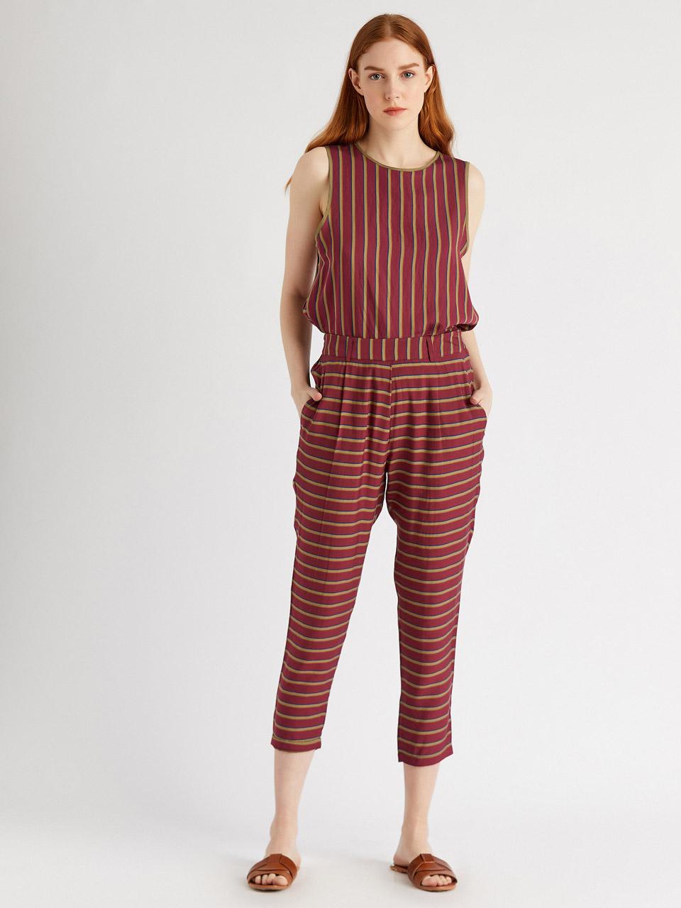 Elastic Waist Capri Trousers