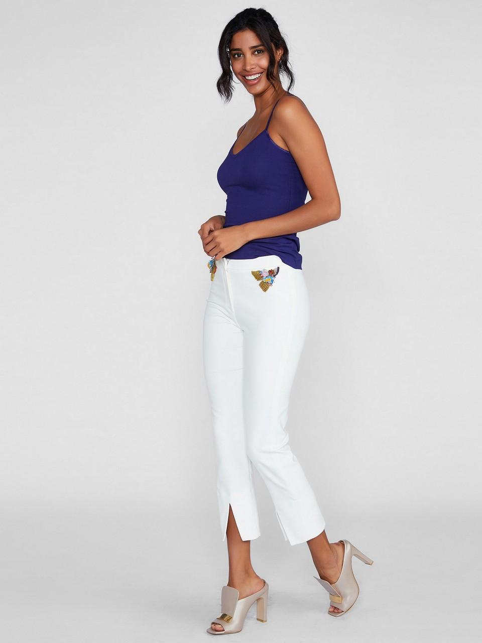 Taş Ve İşleme Detaylı Pantolon
