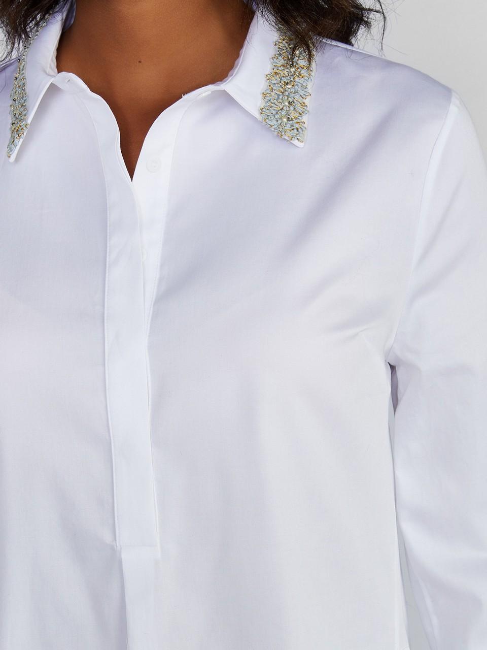 Yakası Taş Detaylı Klasik Kesim Gömlem