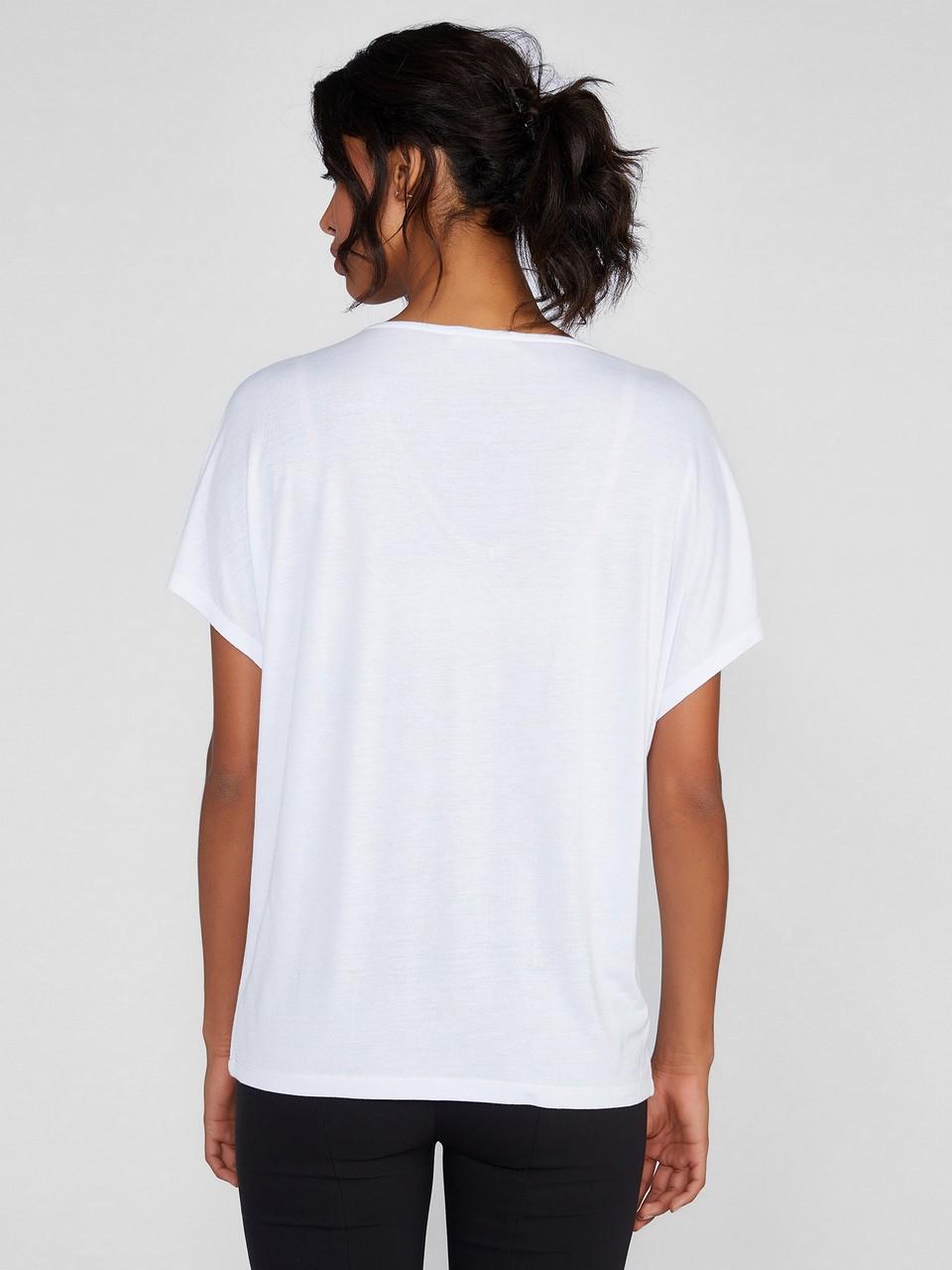 Japone Kol V Yaka Basic Bluz