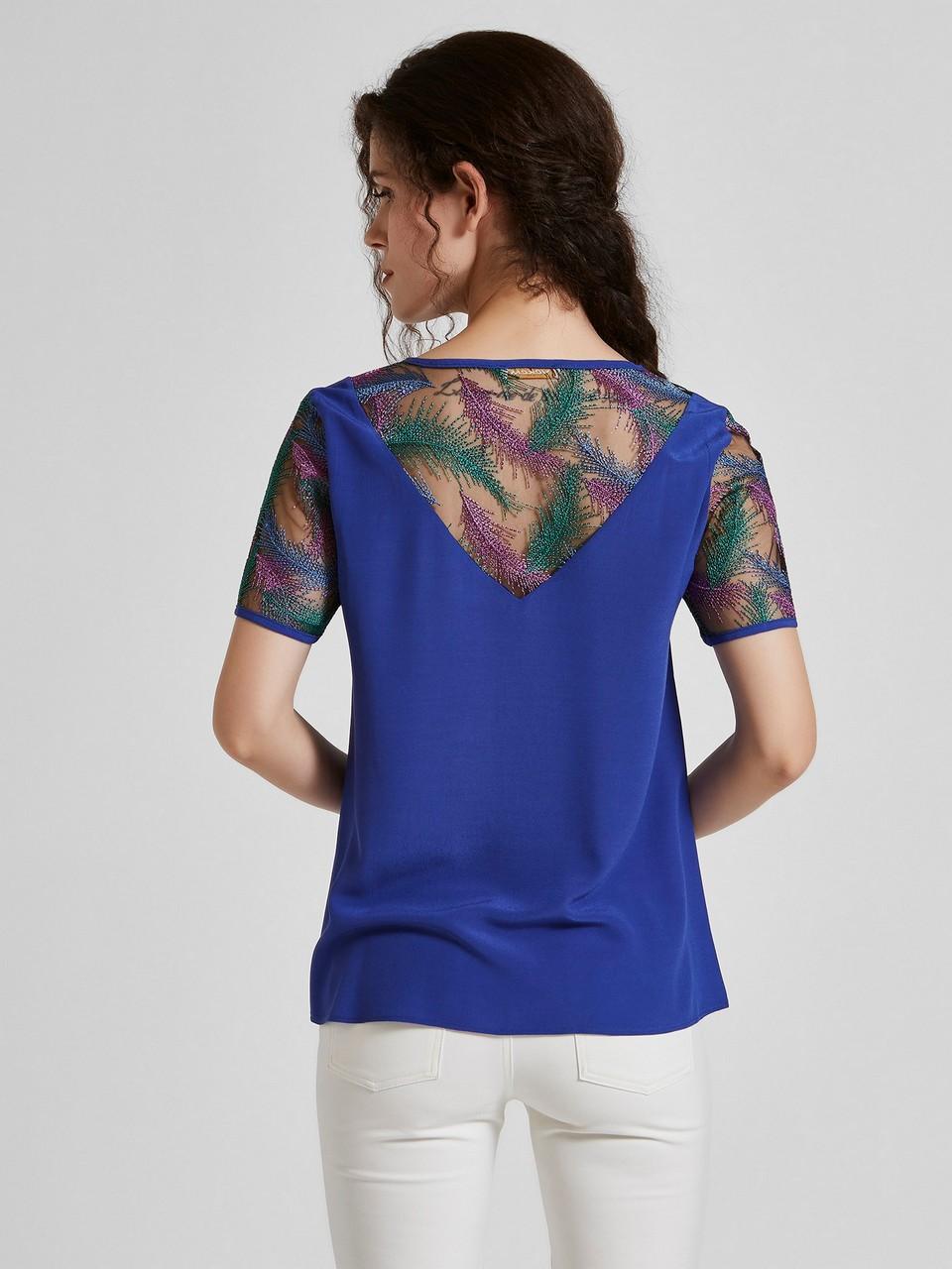 Sıfır Yaka Şifon Detaylı Bluz