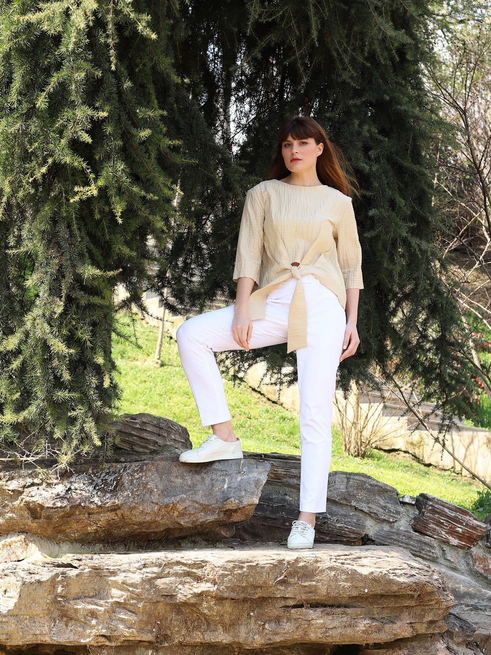 Front-Tied Comfortable Fit Blouse