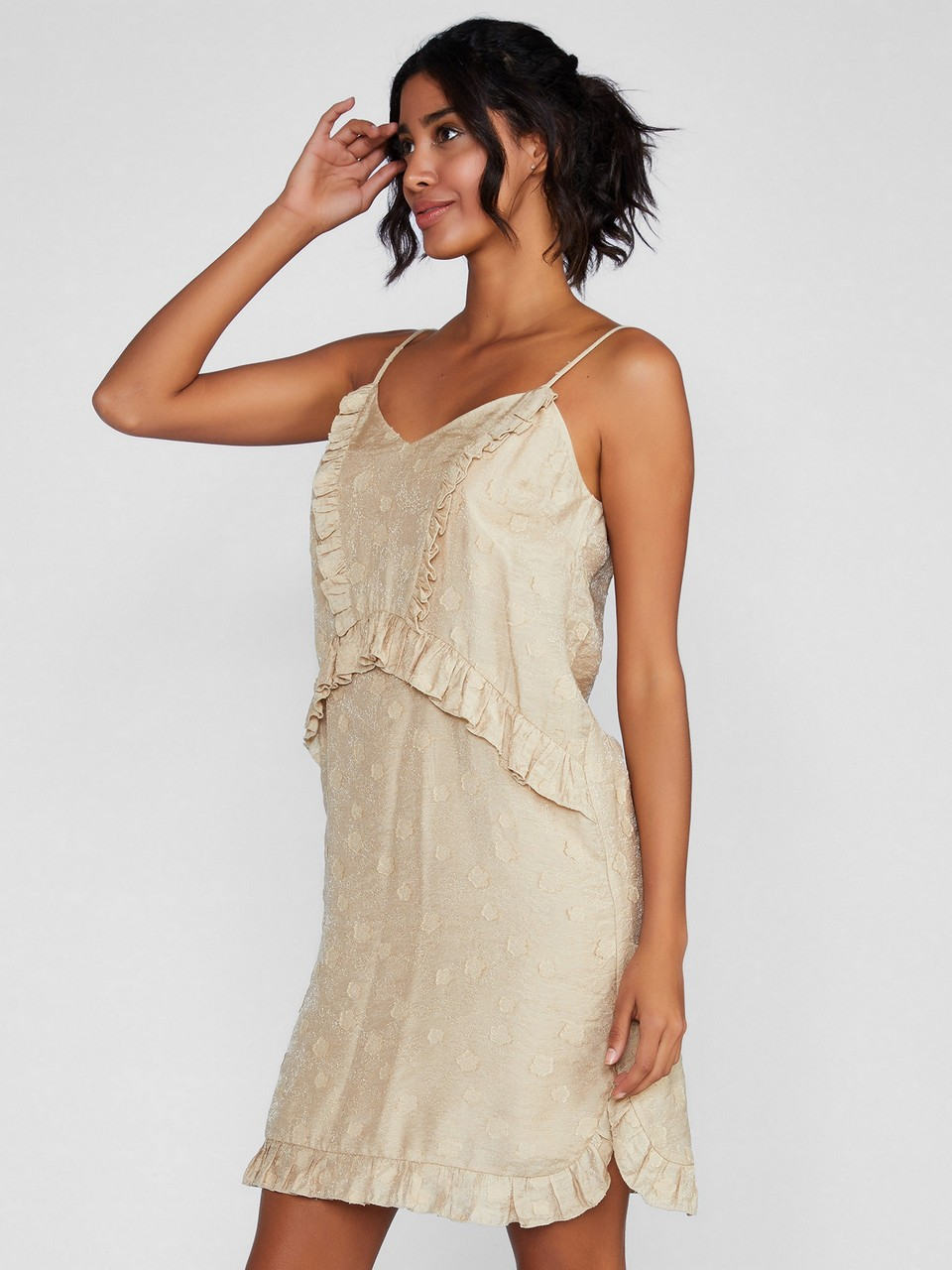 İp Askılı İpekli Elbise