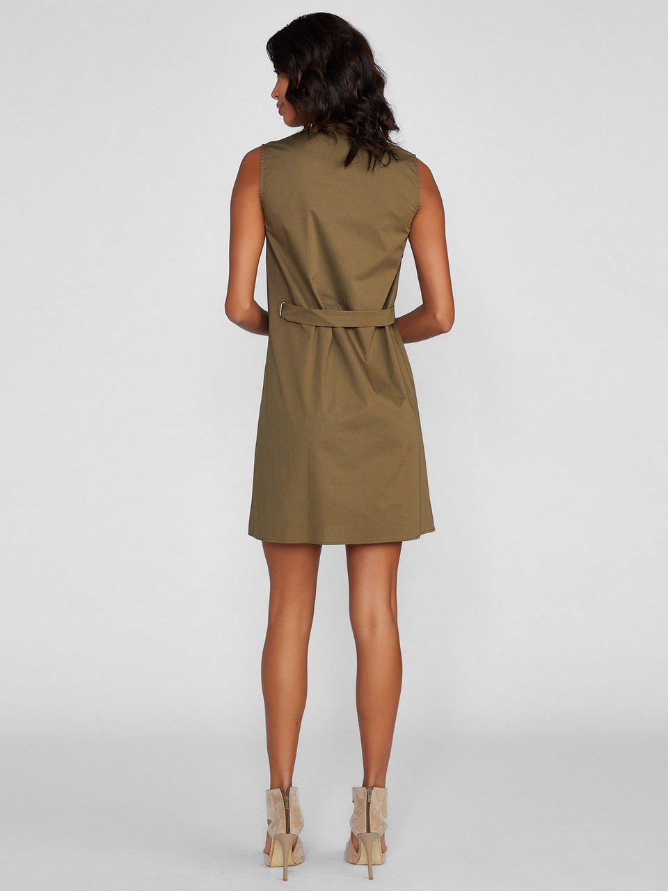 Sıfır Kol Rahat Kesim Elbise