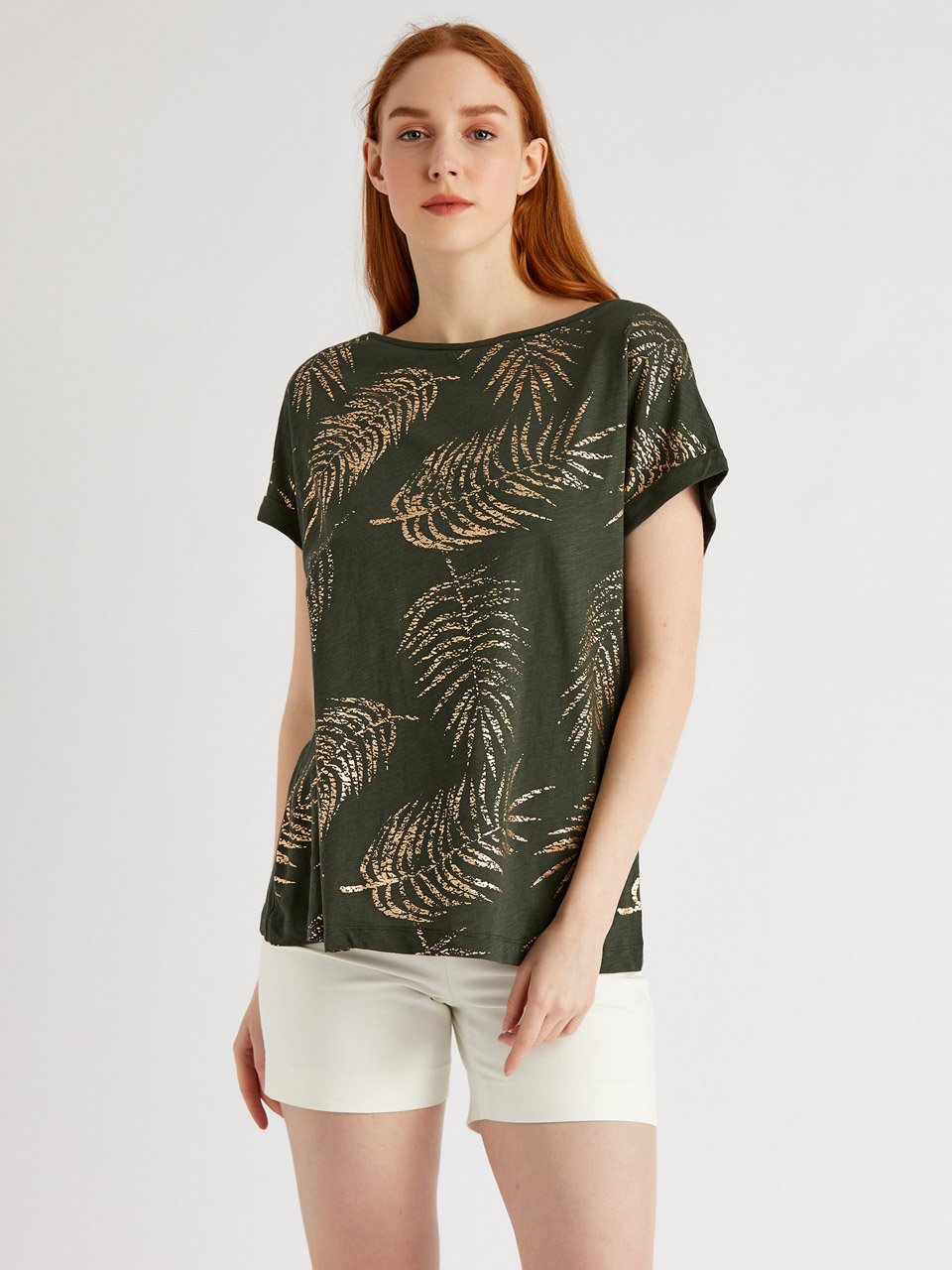 Silver Printed Cotton Blouse