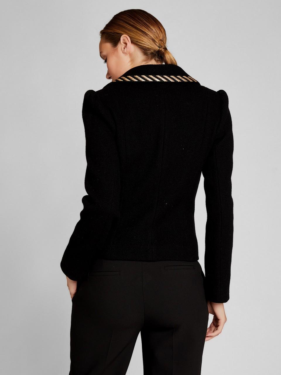 Büyük Düğme Detaylı Geniş Yakalı Blazer Ceket
