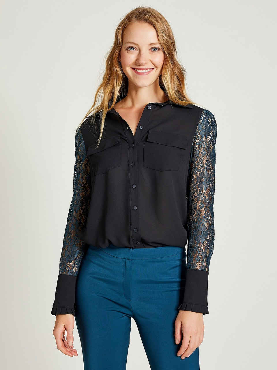 Lace Sleeved Shirt