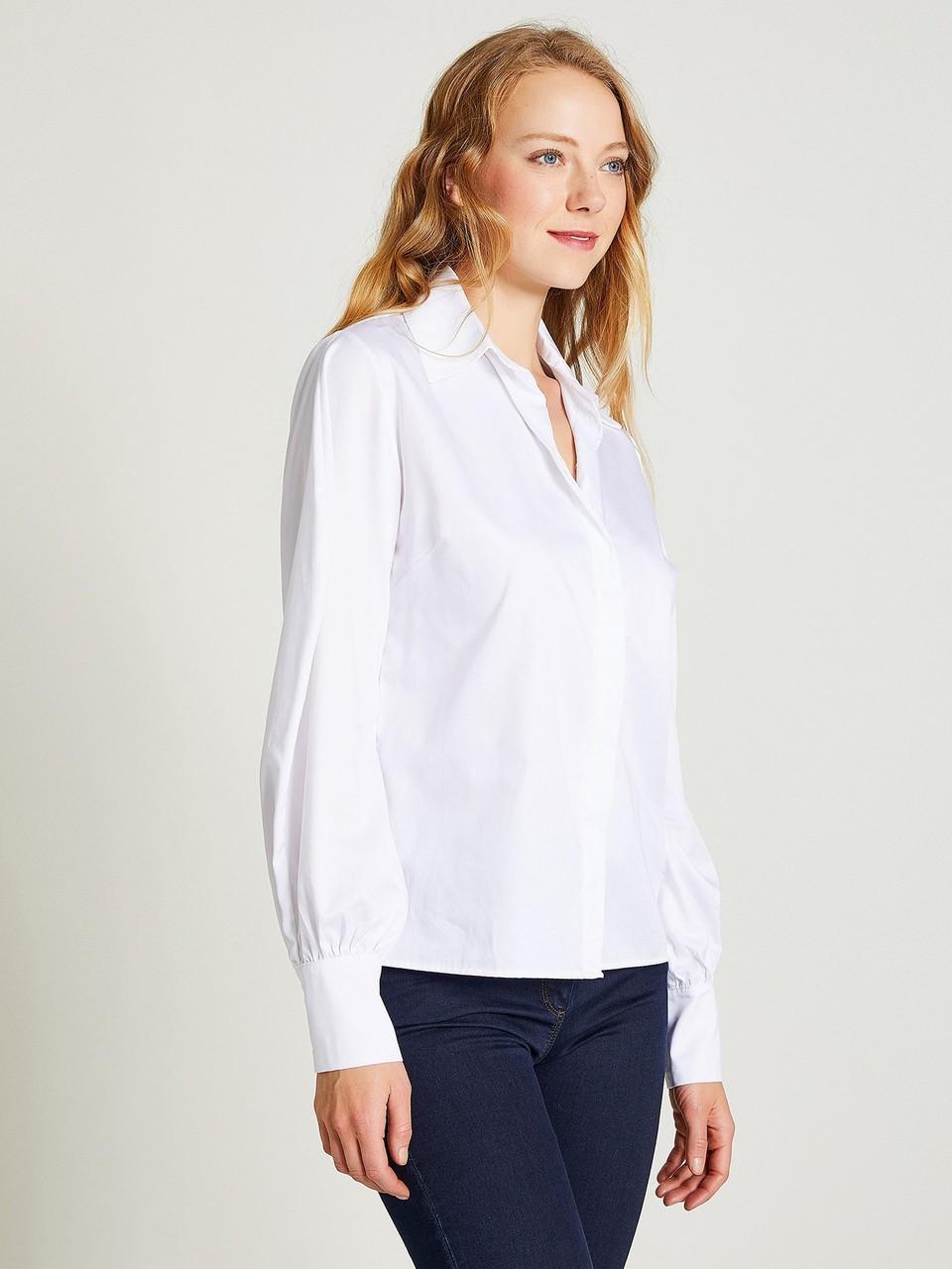 Neckband Wide Cuff Shirt