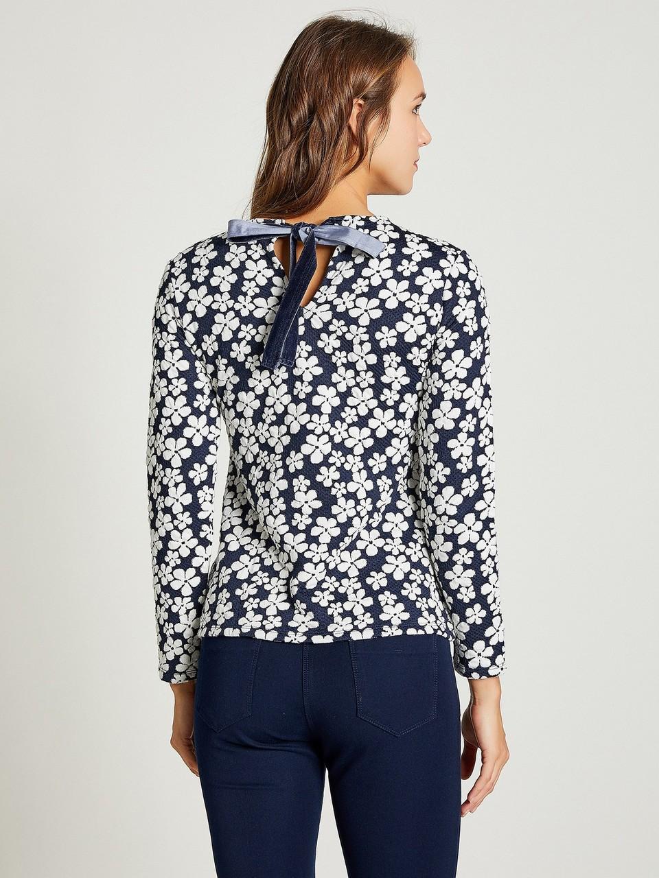 Boyundan Bağlamalı Çiçek Desenli Bluz