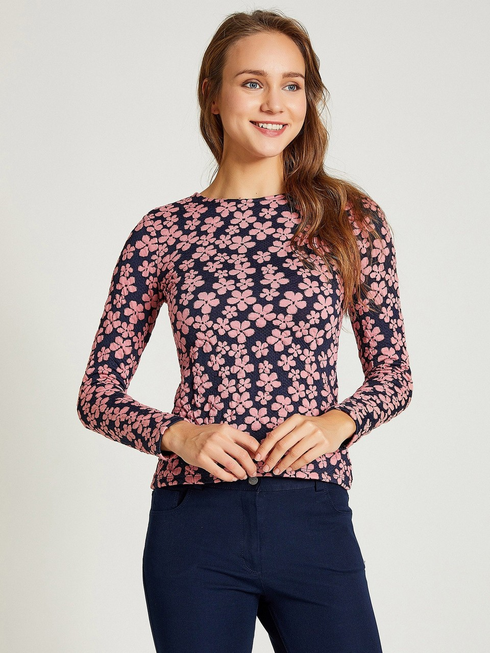 Floral Patterned Cotton Blouse