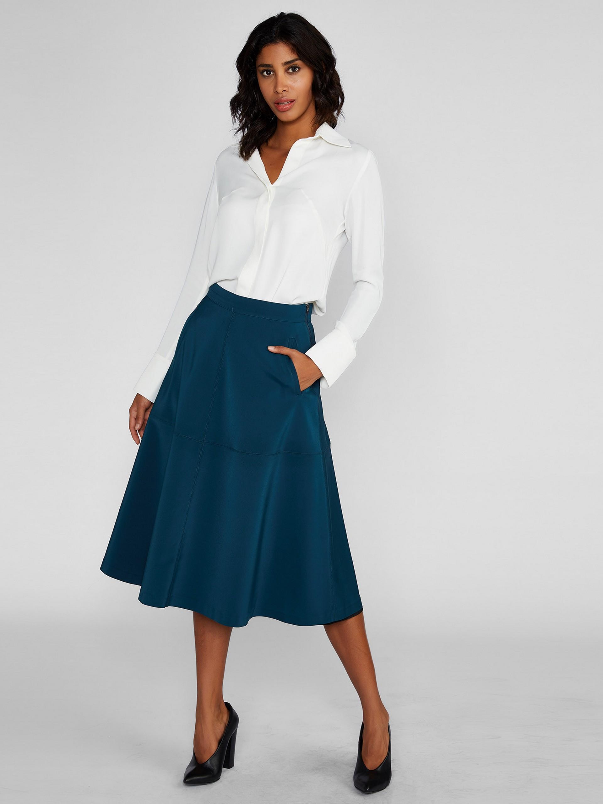 Bell Shape Midi Skirt