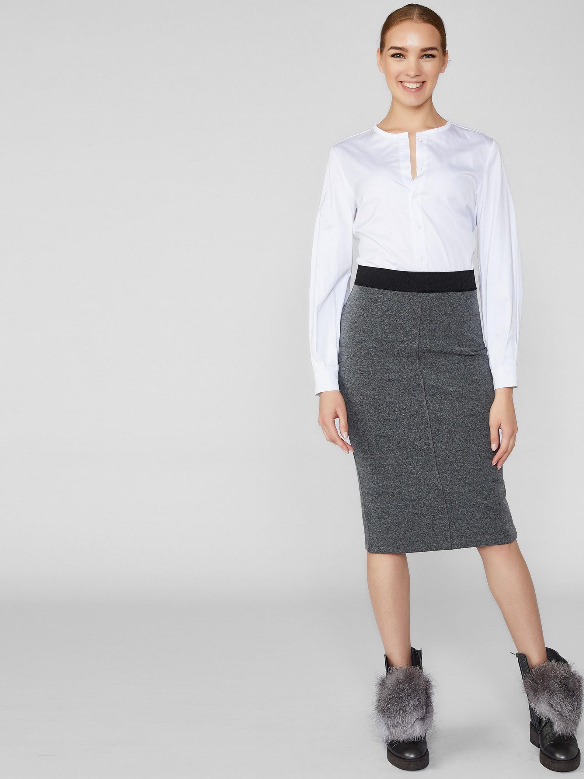 Pencil Skirt With Elastic Waist