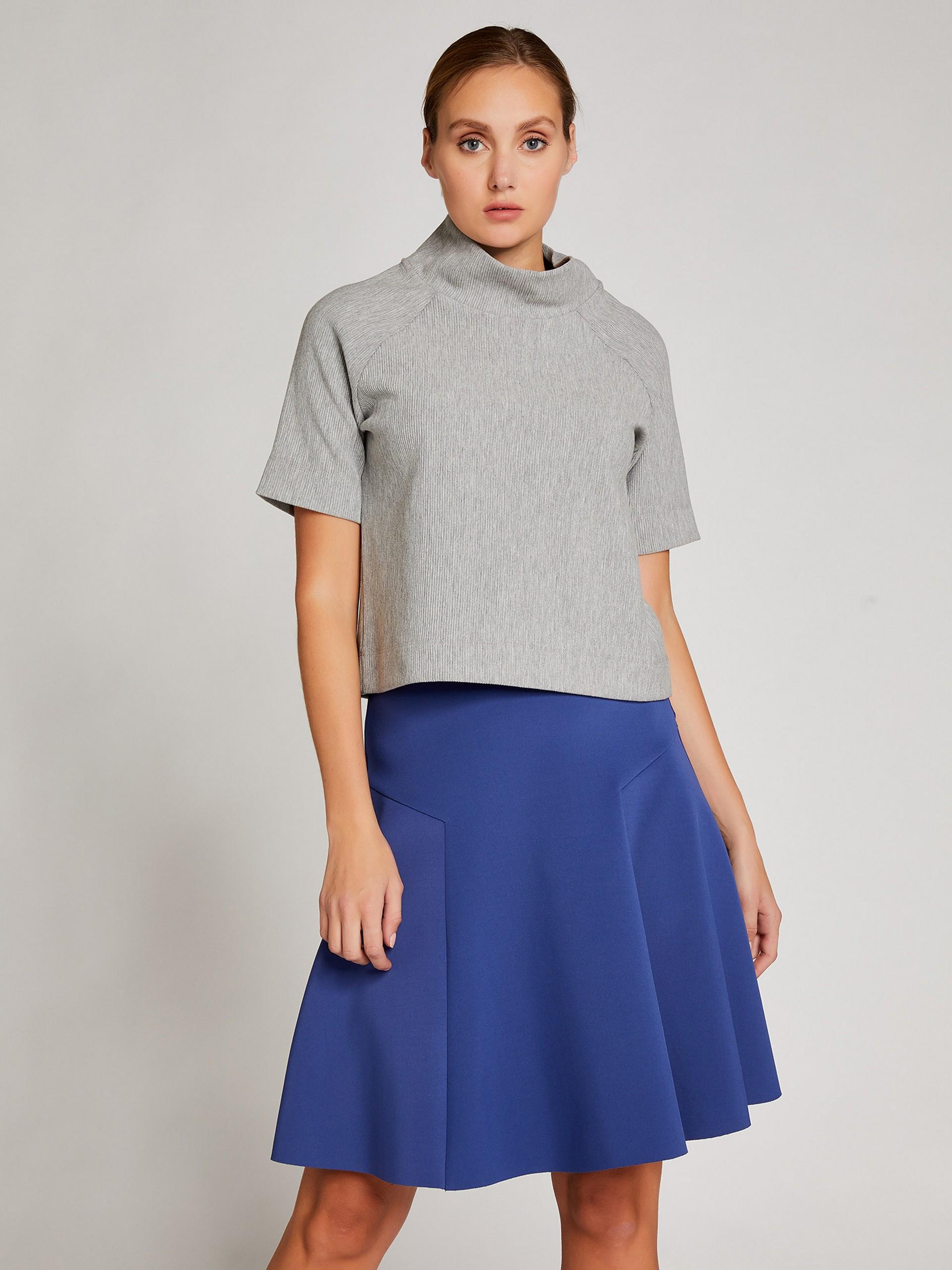 Scuba Pleated Skirt