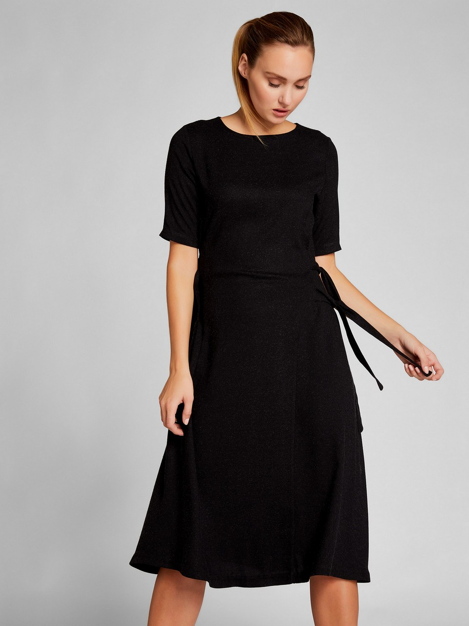 Gathered Waist Short Sleeve Dress