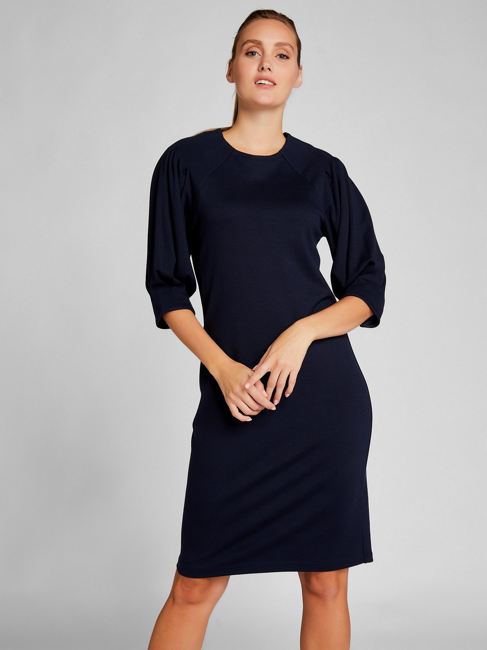 Three Quarter Sleeve Knitwear Dress