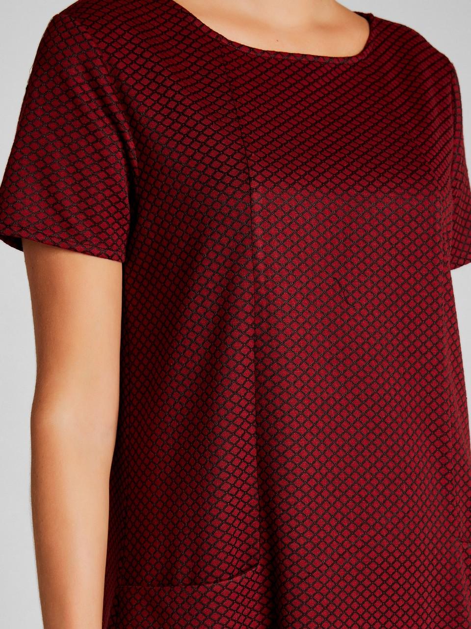 Sıfır Yaka Kısa Kollu Mini Elbise