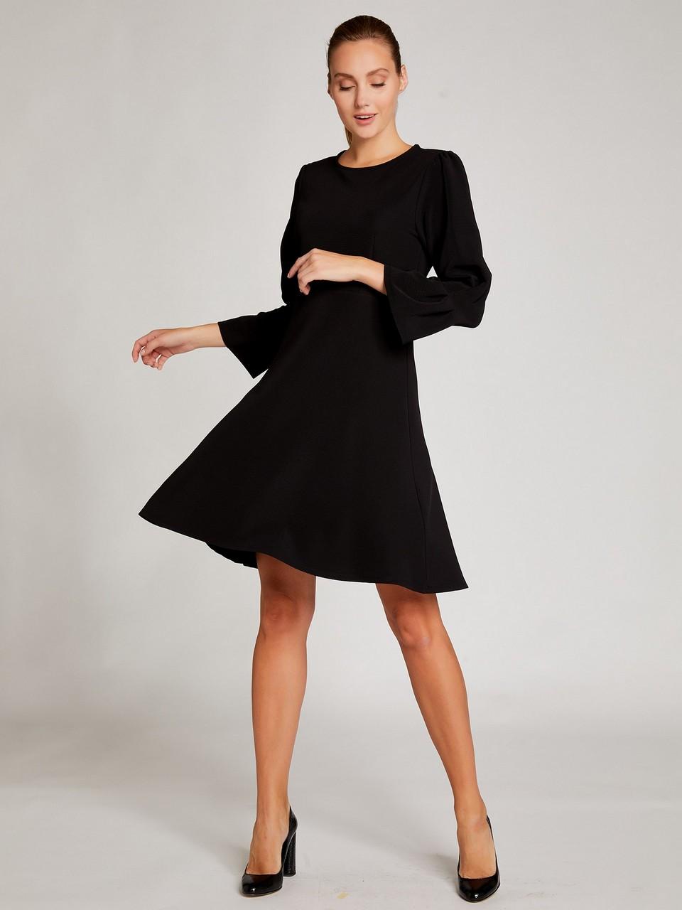 Kolları Volanlı Sıfır Yaka Mini Elbise