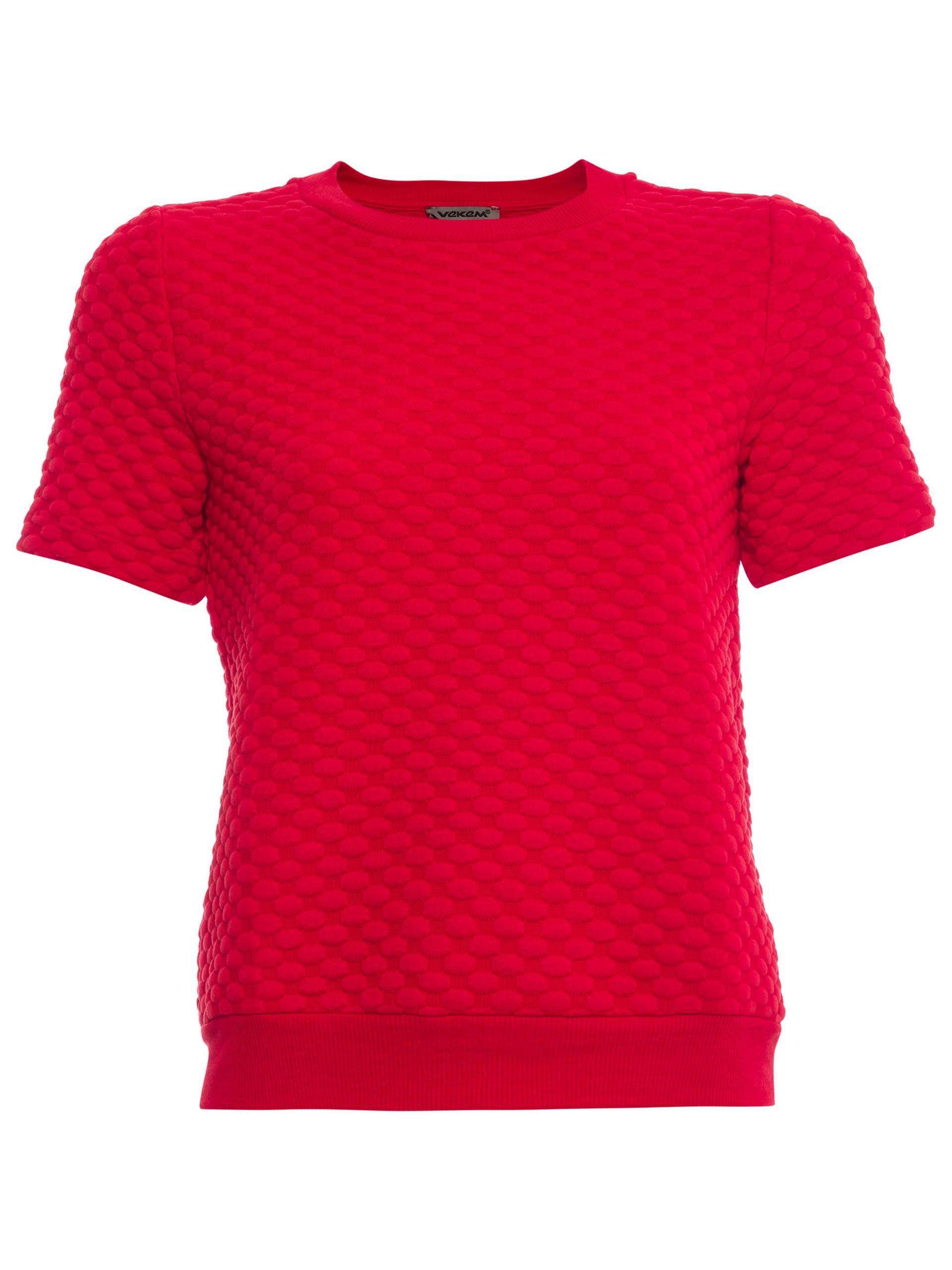 Sıfır Yaka Kısa Kol Sweatshirt