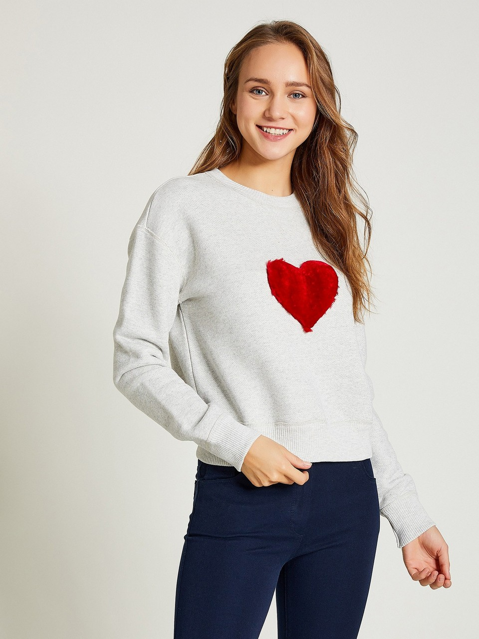 Heart Detailed Sweatshirt