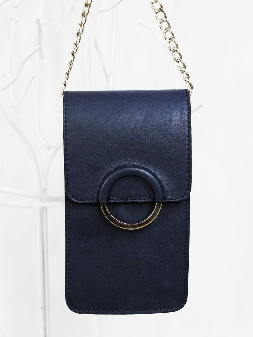 Genuine Leather Chain Strap Bag